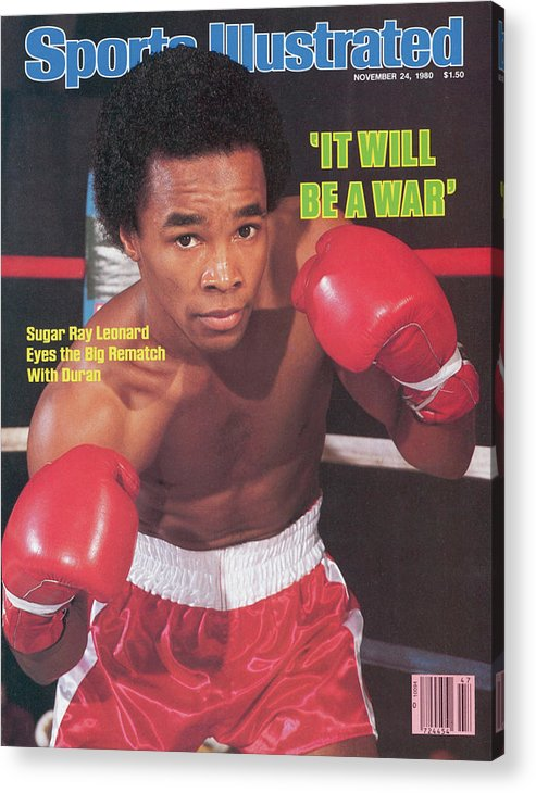 Magazine Cover Acrylic Print featuring the photograph Sugar Ray Leonard, Welterweight Boxing Sports Illustrated Cover by Sports Illustrated