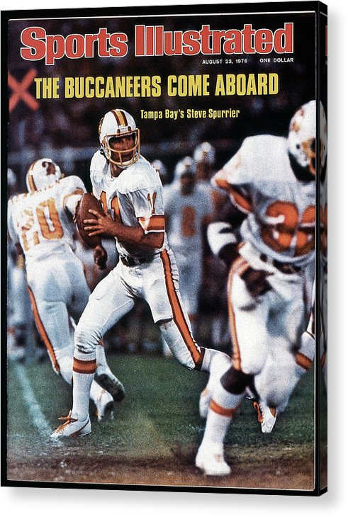 Magazine Cover Acrylic Print featuring the photograph Tampa Bay Buccaneers Qb Steve Spurrier... Sports Illustrated Cover by Sports Illustrated