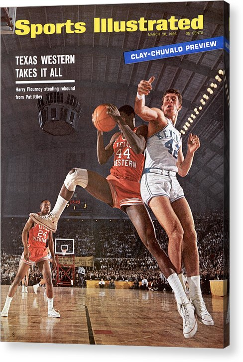 Magazine Cover Acrylic Print featuring the photograph Texas Western University Takes It All Sports Illustrated Cover by Sports Illustrated