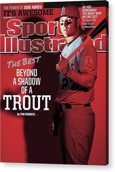 Magazine Cover Acrylic Print featuring the photograph The Best Beyond A Shadow Of A Trout Sports Illustrated Cover by Sports Illustrated