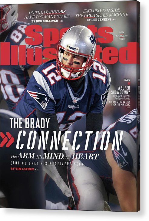 Magazine Cover Acrylic Print featuring the photograph The Brady Connection His Arm. His Mind. His Heart. Sports Illustrated Cover by Sports Illustrated