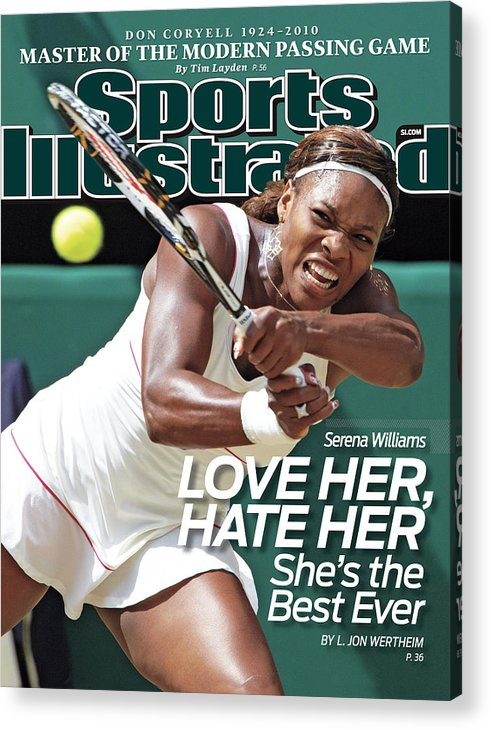 Tennis Acrylic Print featuring the photograph The Championships - Wimbledon 2010 Day Twelve Sports Illustrated Cover by Sports Illustrated