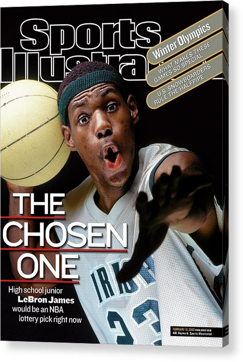 Magazine Cover Acrylic Print featuring the photograph The Chosen One St. Vincent-st. Mary High LeBron James Sports Illustrated Cover by Sports Illustrated