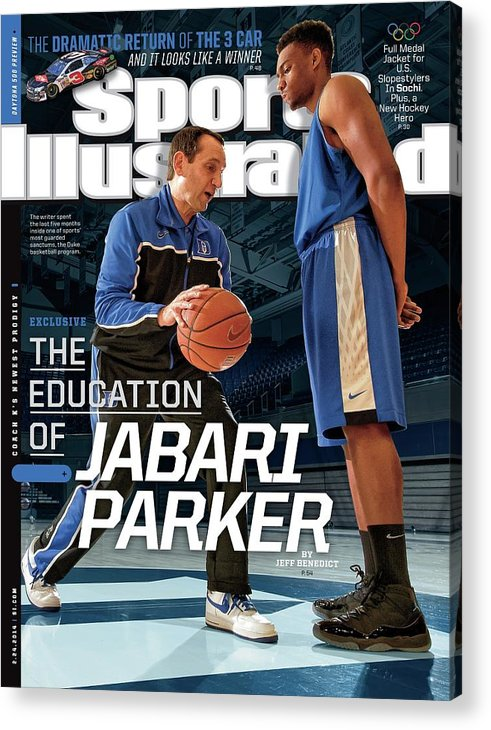 Magazine Cover Acrylic Print featuring the photograph The Education Of Jabari Parker Sports Illustrated Cover by Sports Illustrated