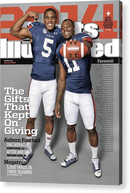 Magazine Cover Acrylic Print featuring the photograph The Gifts That Kept On Giving Auburn Football Sports Illustrated Cover by Sports Illustrated