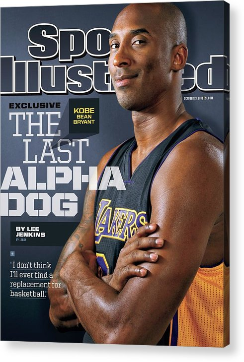 Magazine Cover Acrylic Print featuring the photograph The Last Alpha Dog Sports Illustrated Cover by Sports Illustrated