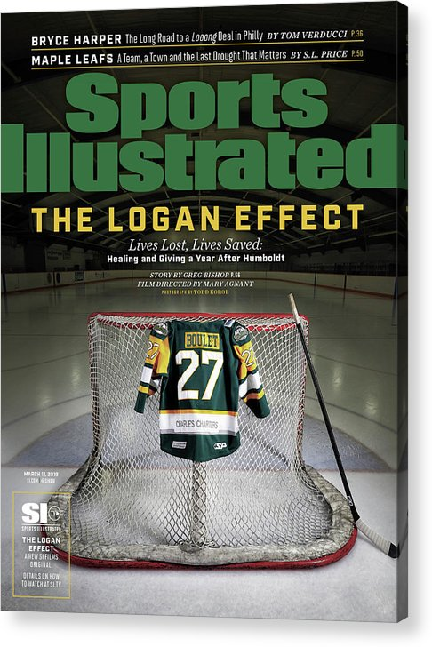 Magazine Cover Acrylic Print featuring the photograph The Logan Effect. Lives Lost, Lives Saved Healing And Sports Illustrated Cover by Sports Illustrated