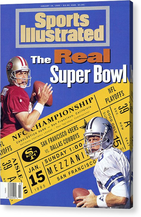 California Acrylic Print featuring the photograph The Real Super Bowl, 1995 Nfc Championship Preview Sports Illustrated Cover by Sports Illustrated