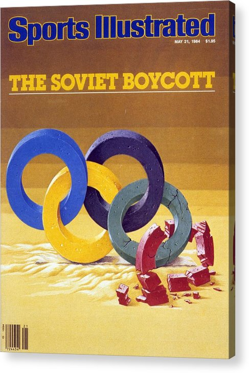 Magazine Cover Acrylic Print featuring the photograph The Soviet Unions Boycott Of Los Angeles Olympics Sports Illustrated Cover by Sports Illustrated