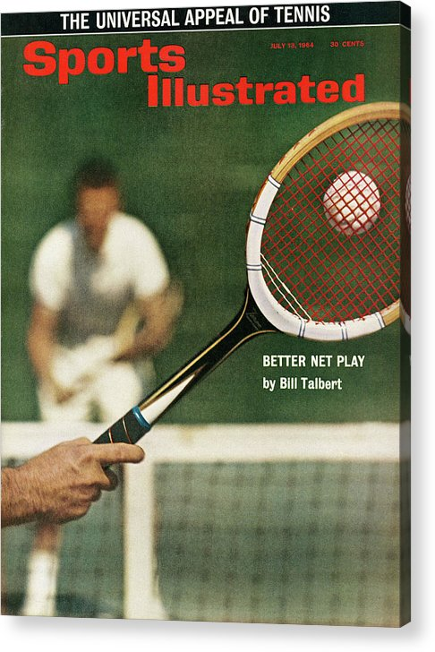 Magazine Cover Acrylic Print featuring the photograph The Universal Appeal Of Tennis Better Net Play By Bill Sports Illustrated Cover by Sports Illustrated