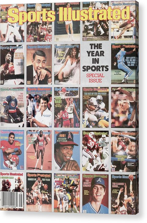 1980-1989 Acrylic Print featuring the photograph The Year In Sports Issue... Sports Illustrated Cover by Sports Illustrated