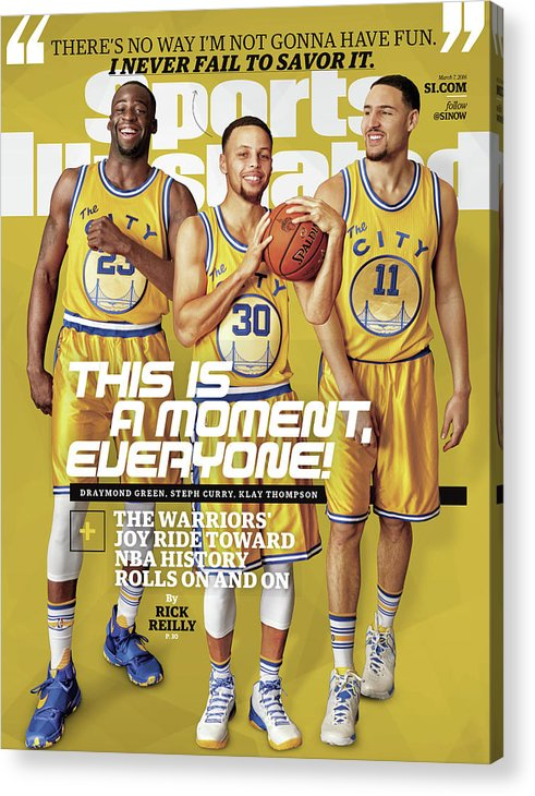 Point Guard Acrylic Print featuring the photograph This Is A Moment, Everyone The Warriors Joy Ride Toward Nba Sports Illustrated Cover by Sports Illustrated