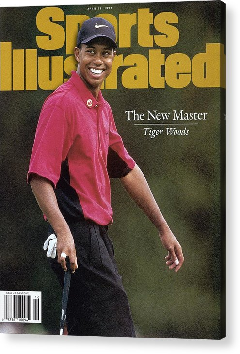 Magazine Cover Acrylic Print featuring the photograph Tiger Woods, 1997 Masters Sports Illustrated Cover by Sports Illustrated