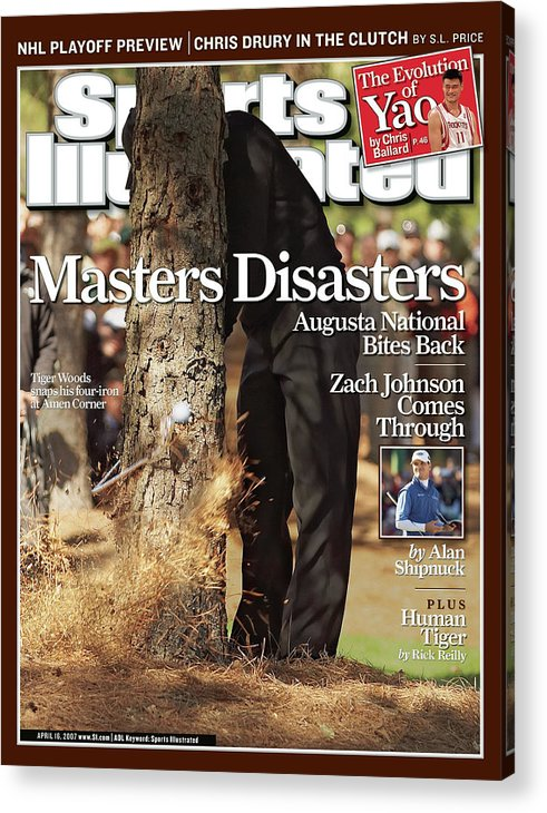 Magazine Cover Acrylic Print featuring the photograph Tiger Woods, 2007 Masters Sports Illustrated Cover by Sports Illustrated