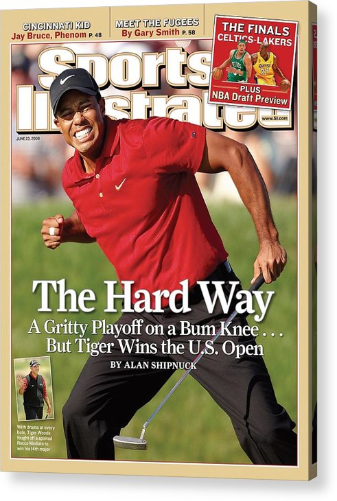 Magazine Cover Acrylic Print featuring the photograph Tiger Woods, 2008 Us Open Sports Illustrated Cover by Sports Illustrated