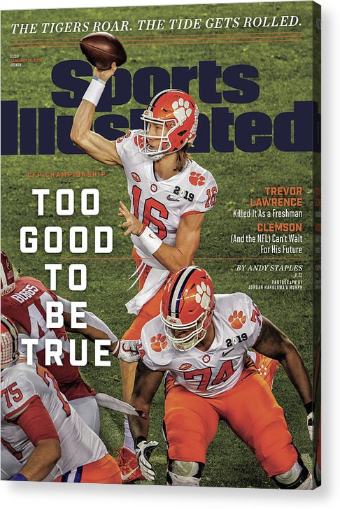 Magazine Cover Acrylic Print featuring the photograph Too Good To Be True Trevor Lawrence Killed It As A Sports Illustrated Cover by Sports Illustrated