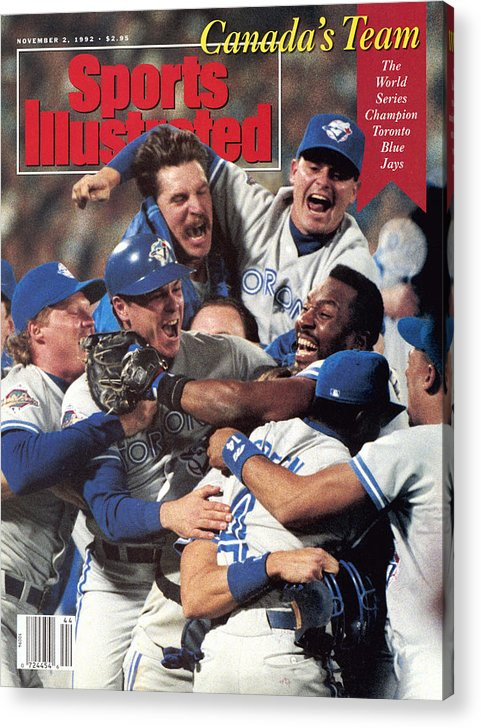 Atlanta Acrylic Print featuring the photograph Toronto Blue Jays Joe Carter, 1992 World Series Sports Illustrated Cover by Sports Illustrated