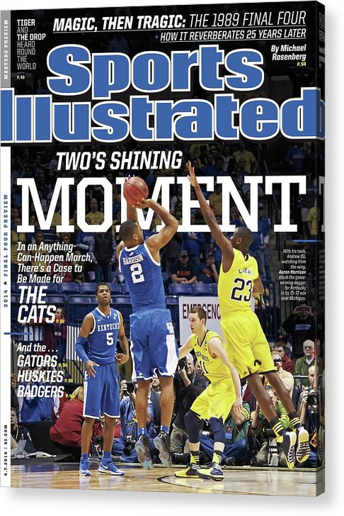 Magazine Cover Acrylic Print featuring the photograph Twos Shining Moment In An Anything-can-happen March, Theres Sports Illustrated Cover by Sports Illustrated