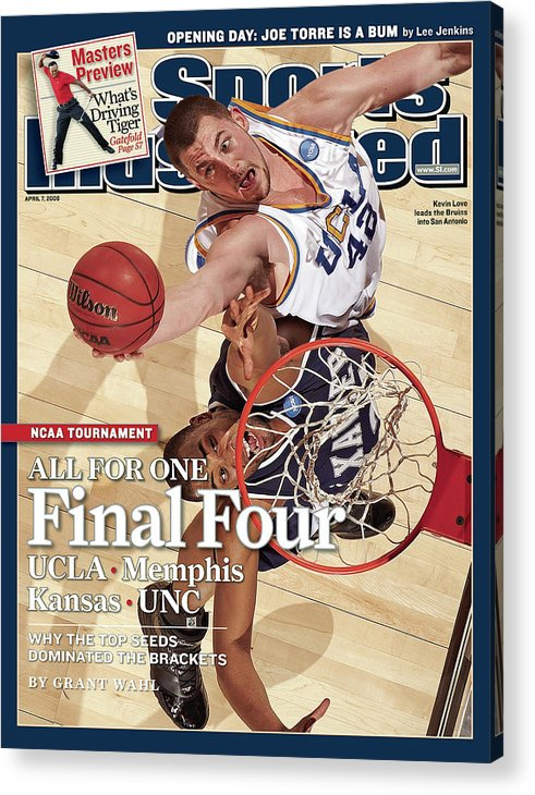Magazine Cover Acrylic Print featuring the photograph Ucla Kevin Love, 2008 Ncaa West Regional Finals Sports Illustrated Cover by Sports Illustrated