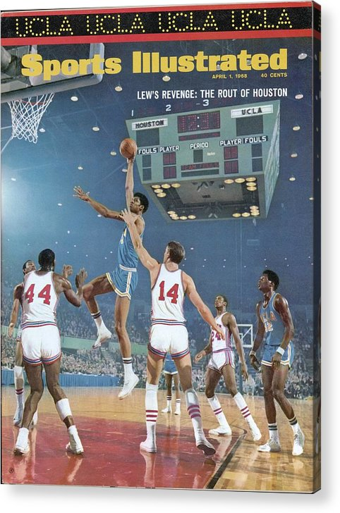 Sports Illustrated Acrylic Print featuring the photograph Ucla Lew Alcindor, 1968 Ncaa Semifinals Sports Illustrated Cover by Sports Illustrated