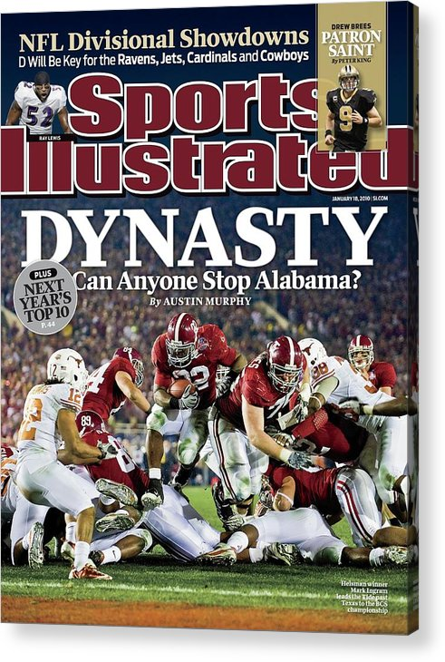 Rose Bowl Stadium Acrylic Print featuring the photograph University Of Alabama Mark Ingram, 2010 Citi Bcs National Sports Illustrated Cover by Sports Illustrated