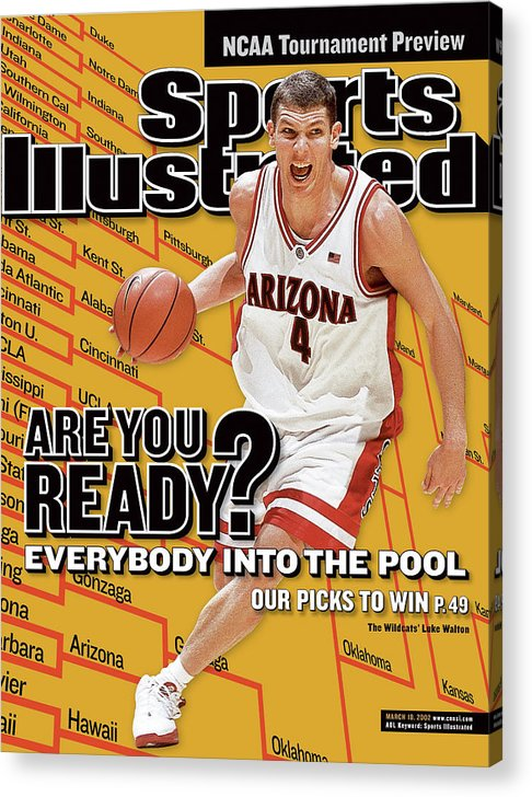 Pac-12 Conference Acrylic Print featuring the photograph University Of Arizona Luke Walton, 2002 Ncaa Tournament Sports Illustrated Cover by Sports Illustrated