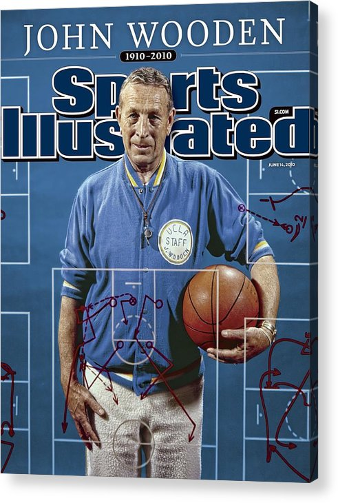 Magazine Cover Acrylic Print featuring the photograph University Of California Los Angeles Coach John Wooden Sports Illustrated Cover by Sports Illustrated