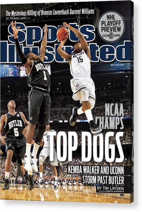 Kemba Walker Acrylic Print featuring the photograph University Of Connecticut Vs Butler University, 2011 Ncaa Sports Illustrated Cover by Sports Illustrated