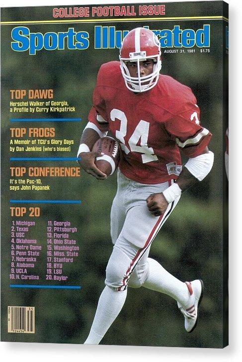 Magazine Cover Acrylic Print featuring the photograph University Of Georgia Herschel Walker Sports Illustrated Cover by Sports Illustrated