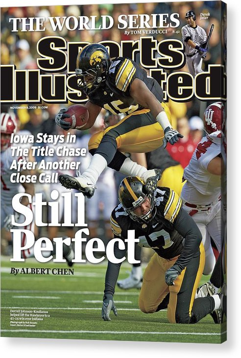 Magazine Cover Acrylic Print featuring the photograph University Of Iowa Derrell Johnson-koulianos Sports Illustrated Cover by Sports Illustrated