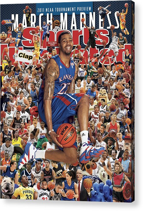 Magazine Cover Acrylic Print featuring the photograph University Of Kansas Marcus Morris, 2011 March Madness Sports Illustrated Cover by Sports Illustrated