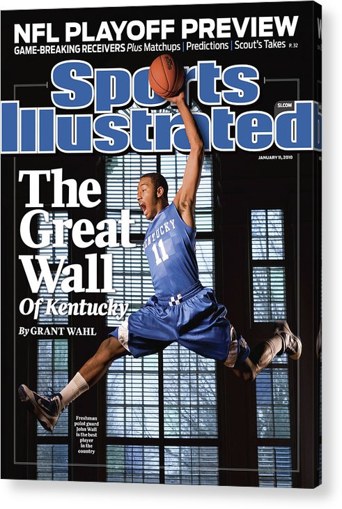 Point Guard Acrylic Print featuring the photograph University Of Kentucky John Wall Sports Illustrated Cover by Sports Illustrated