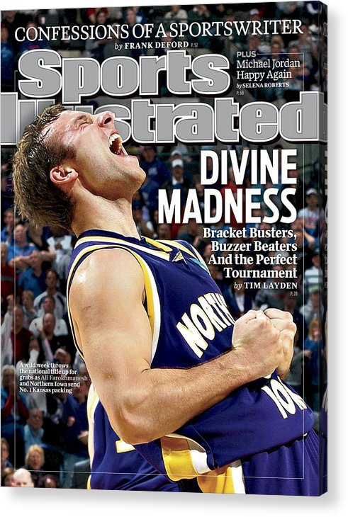 Magazine Cover Acrylic Print featuring the photograph University Of Northern Iowa Ali Farokhmanesh, 2010 Ncaa Sports Illustrated Cover by Sports Illustrated
