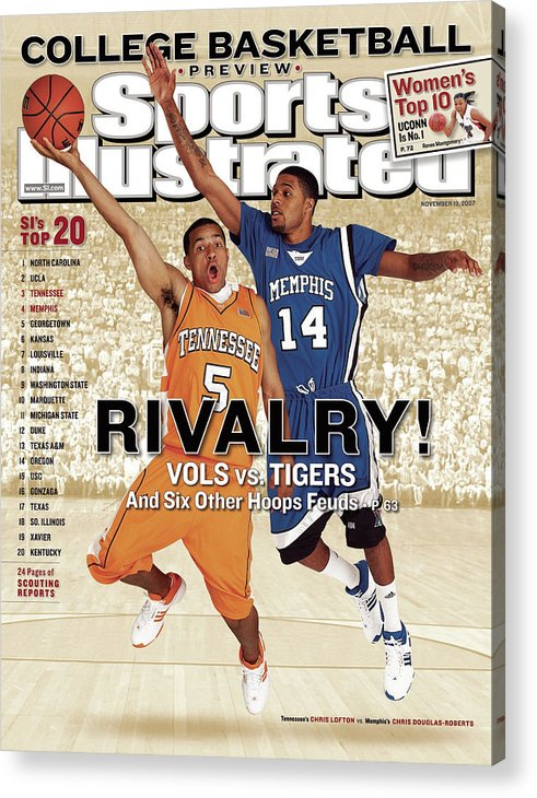 Magazine Cover Acrylic Print featuring the photograph University Of Tennessee Chris Lofton And University Of Sports Illustrated Cover by Sports Illustrated
