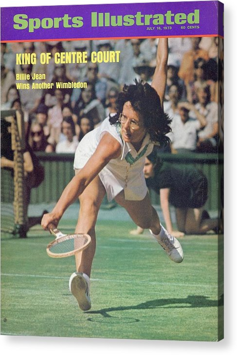 Tennis Acrylic Print featuring the photograph Usa Billie Jean King, 1973 Wimbledon Sports Illustrated Cover by Sports Illustrated