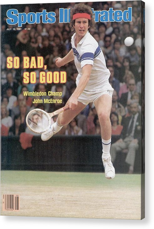 1980-1989 Acrylic Print featuring the photograph Usa John Mcenroe, 1981 Wimbledon Sports Illustrated Cover by Sports Illustrated