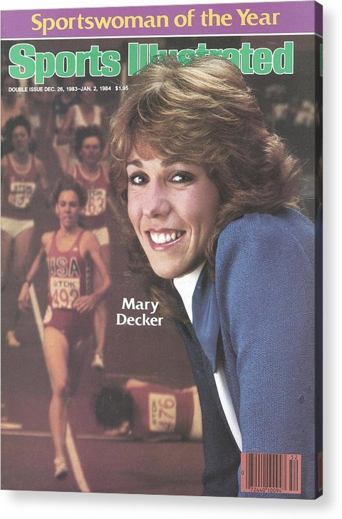 Magazine Cover Acrylic Print featuring the photograph Usa Mary Decker, 1983 Sportswoman Of The Year Sports Illustrated Cover by Sports Illustrated