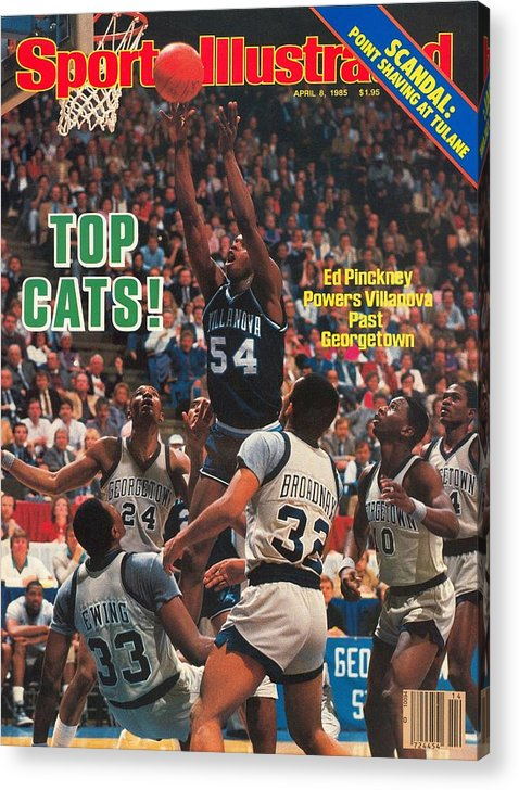 1980-1989 Acrylic Print featuring the photograph Villanova University Ed Pinckney, 1985 Ncaa National Sports Illustrated Cover by Sports Illustrated