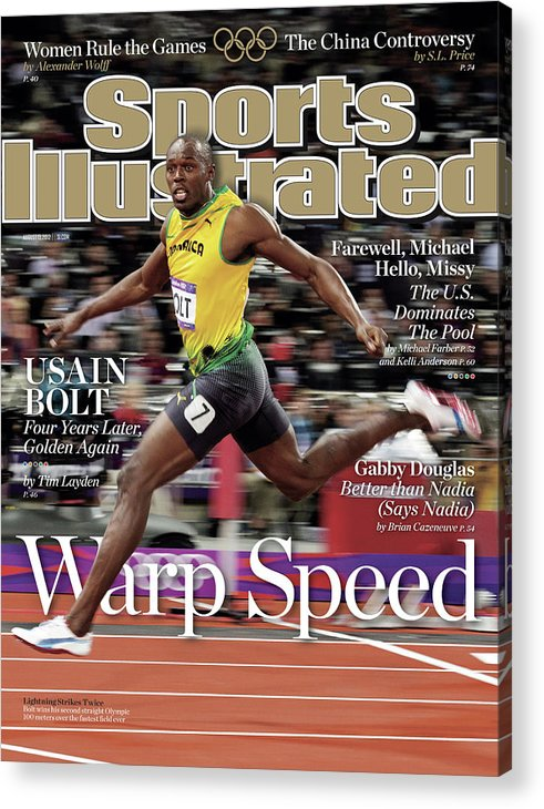 Magazine Cover Acrylic Print featuring the photograph Warp Speed 2012 Summer Olympics Sports Illustrated Cover by Sports Illustrated