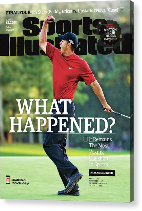 Magazine Cover Acrylic Print featuring the photograph What Happened It Remains The Most Vexing Question In Sports Sports Illustrated Cover by Sports Illustrated