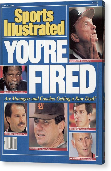 1980-1989 Acrylic Print featuring the photograph Youre Fired Are Managers And Coaches Getting A Raw Deal Sports Illustrated Cover by Sports Illustrated