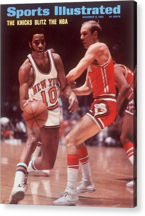 Chicago Bulls Acrylic Print featuring the photograph New York Knicks Walt Frazier... Sports Illustrated Cover by Sports Illustrated