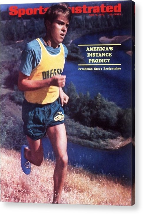 Magazine Cover Acrylic Print featuring the photograph Oregon Steve Prefontaine Sports Illustrated Cover by Sports Illustrated