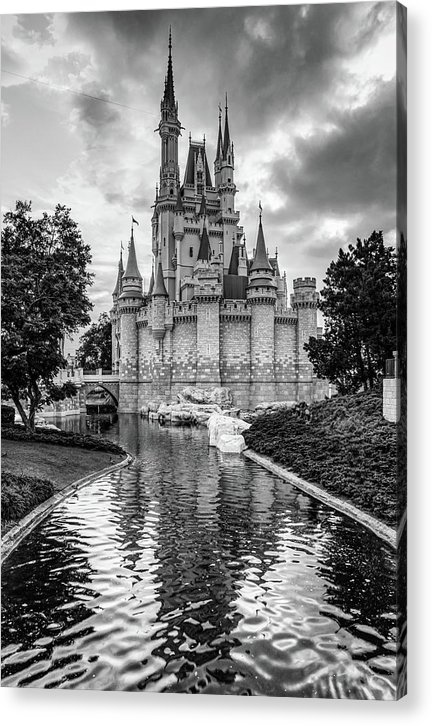 Cinderella Castle and Magic Kingdom in Monochrome by Gregory Ballos