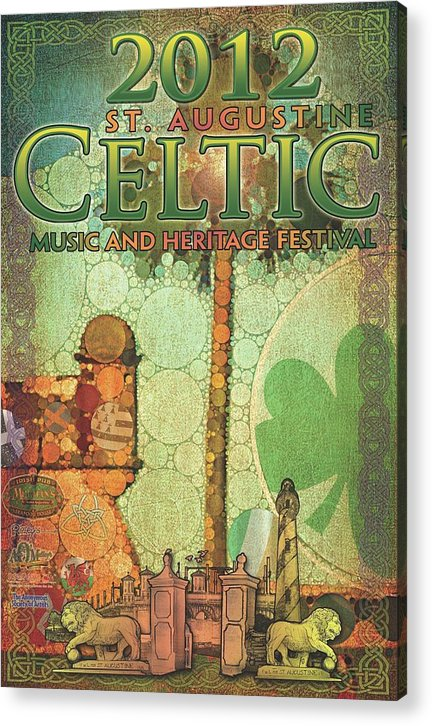 Poster Acrylic Print featuring the digital art Celtic Festival Poster by Scott Waters