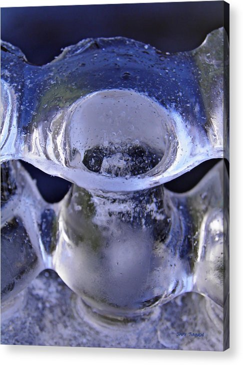 Vase Acrylic Print featuring the photograph Ice Bowls by Sami Tiainen