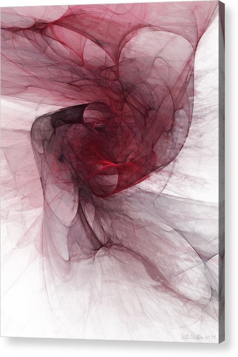 Digital Paintings Acrylic Print featuring the drawing Fight by Niels Walther