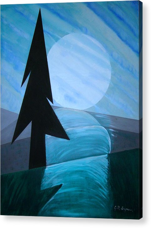 Phases Of The Moon Acrylic Print featuring the painting Reflections On The Day by J R Seymour