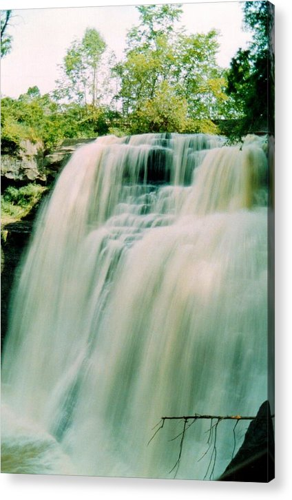 Brandywine Falls Acrylic Print featuring the photograph 072106-15 by Mike Davis