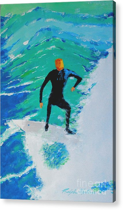 Beach Art Acrylic Print featuring the painting Just Another Ride by Art Mantia